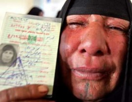 Iraqi woman cries after voting