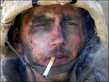 Lance Cpl. James Blake Miller - the Marlboro man in Iraq (AP/L.A. Times, Luis Sinco)