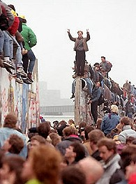Berlin wall falls - photo courtesy of AP