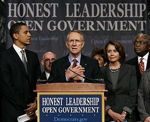 Obama, Reid, Pelosi