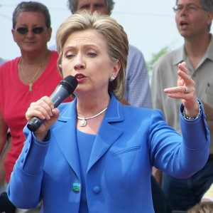 Hillary Clinton speaks in Gastonia, NC - 5/2/08. Photo taken by ST.