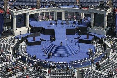 Obama's temple at Invesco Field