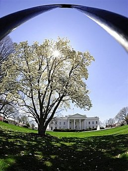 Spring in Washington : North side of the White House in Washington, DC.