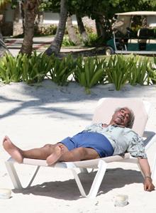 Rangel relaxes