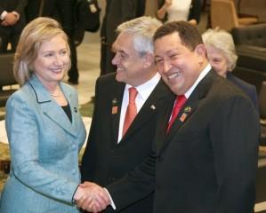 Hillary Clinton meets Hugo Chavez