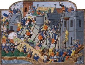 """Siege of Constantinople,"" Jean Chartier c.1475"