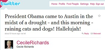 Cecile Richards Tweet