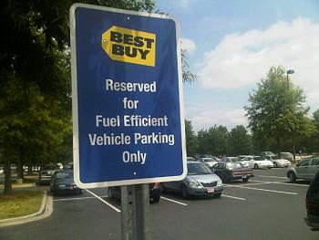 Best Buy parking sign