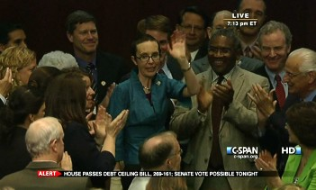 Rep. Giffords returns