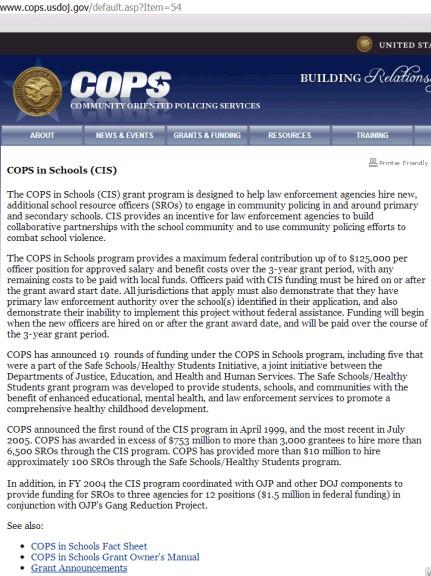 COPS in Scoools screencap
