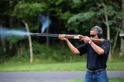 Obama Skeet Shoot