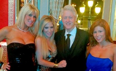 Clinton and porn stars
