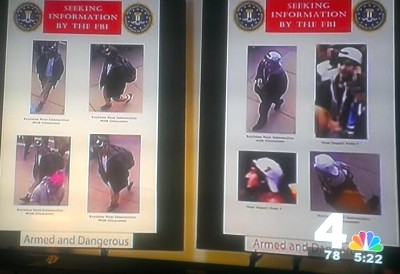 Suspects from Boston Marathon bombings.