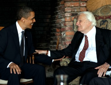 Pres. Obama and Rev. Billy Graham