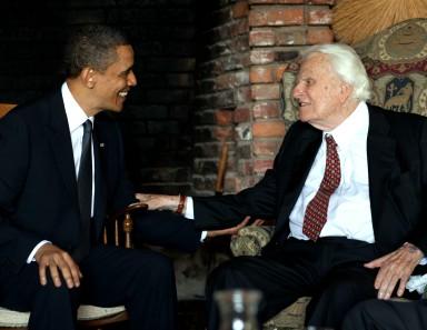 Pres. Obama and Rev. Billy Graham