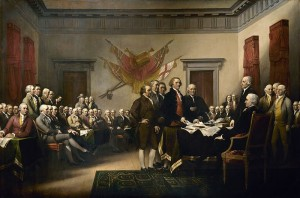 history  Trumbull signing declaration independence