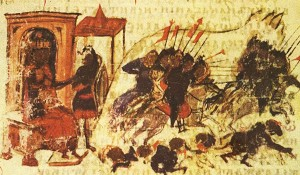 Seige of Constantinople, from the Constantine Manasses Chronicle.