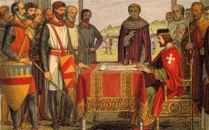 """""""Signing of Magna Carta, A.D. 1215"""""""