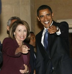 Nancy Pelosi and President Obama
