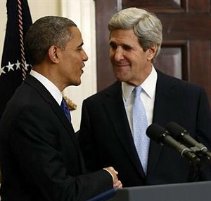 President Obama and Sec. of State John Kerry