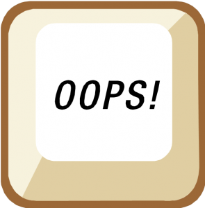satire oops embarrassed button