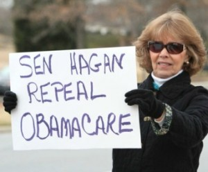 Hagan repeal Obamacare