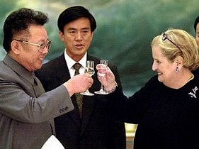 Kim Jong Il and  Sec. of State Albright