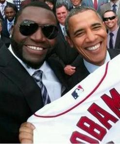 David Ortiz and President Obama