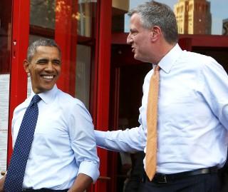Obama and de Blasio