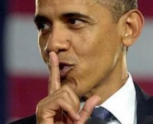 Obama says shh!