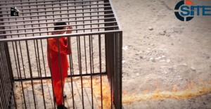 Lt. al Kasasibah at the moment of his execution