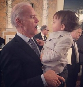 VP Biden and baby