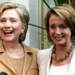 Hillary Clinton and Nancy Pelosi